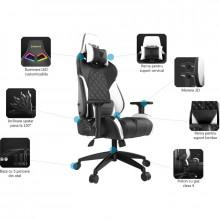 Scaun Gaming Gamdias Achilles M1 L Iluminare RGB negru-albastru, Refurbished