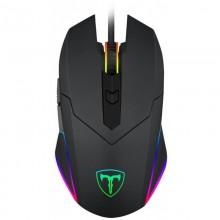 Mouse Gaming T-DAGGER Lance Corporal, Optic, USB, 3200 dpi, 6 butoane, Iluminare LED RGB