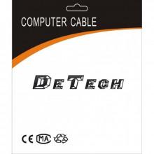 Cablu DeTech, DisplayPort Male - HDMI Male, 14+1 cupru, 5m