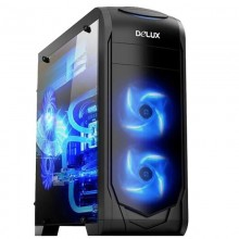 Carcasa Gaming Delux DW702, MiddleTower, Panou transparent