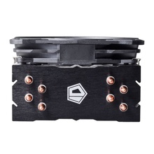 Cooler CPU ID-Cooling SE-214L Red LED, Ventilator 130mm, 4x Heatpipe-uri Cupru