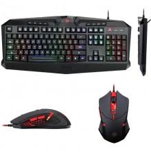 Kit Gaming Redragon S101-1, Tastatura Iluminata RGB, 25 taste fara conflict, Mouse Optic Iluminare LED, 3200dpi