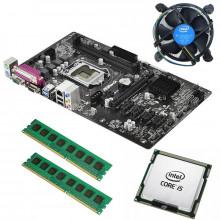 Kit Placa de baza ASRock H81 Pro BTC, 4th gen, USB 3.0, Intel Core i5 4460 3.2GHz, 4 nuclee, 16GB DDR3, Cooler inclus