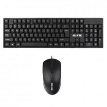 Kit tastatura + mouse Mixie X70, Negru, Design ergonomic