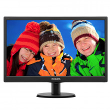 "Monitor LED 18.5"" Philips 193V, Grad A, 5ms, 1366x768, VGA, Cabluri incluse"