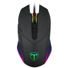 Mouse Gaming T-DAGGER Lance Corporal, Optic, USB, 3200 dpi, 6 butoane, Iluminare LED RGB