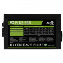 Sursa 500W Aerocool VX PLUS 500N, 3x SATA, 3x Molex, 6+2 pin PCI-E, 120mm
