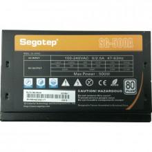 Sursa Segotep SG-500AE 500W, 6x SATA, 3x Molex, 2x 6+2 pin, Eficienta 80%, PFC activ