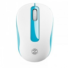 Mouse Wireless ZornWee W550, 1600DPI, Alb/Albastru