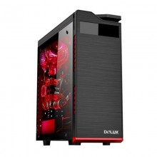 Carcasa Gaming Delux DW701, MiddleTower, Panou transparent