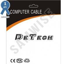 Adaptor DeTech mini DisplayPort tata - DVI mama, Alb