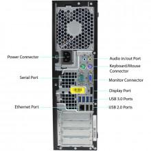 Calculator HP 6300 SFF, Intel Core I3 2130 3.4GHz, 4GB DDR3, 320GB, USB 3.0, DVD
