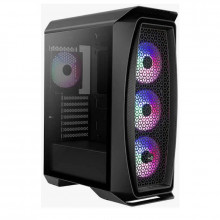 Carcasa Gaming Aerocool Aero One Frost Black, MiddleTower, 3x USB 3.0, Panou transparent