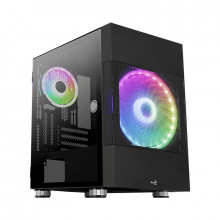 Carcasa Gaming Aerocool Atomic ARGB, MiniTower, 2x USB 3.0, Panou transparent