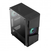 Carcasa Gaming Aerocool Menace Saturn RGB, MiddleTower, USB 3.0, Panou transparent