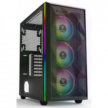 Carcasa Gaming Gamdias Athena M2, MiddleTower, USB 3.0, Panou transparent, 3x 120mm LED RGB