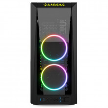Carcasa Gaming Gamdias M1A, MiddleTower, USB 3.0, Panou transparent, Vent. 2x 120mm LED RGB