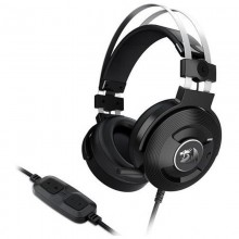 Casti Gaming Redragon Triton Black, Sunet surround 7.1, Telecomanda pe fir, USB, Difuzoare 40mm, Impedanta 32Ohm