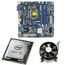 Kit Placa de baza Intel DH55PJ, DDR3, Intel Core i3-550 3.2GHz, 2 nuclee, Cooler EKL