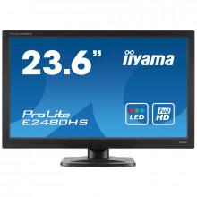 "Monitor LED IIYAMA ProLite 24"" E2480HS, Grad A, 1920x1080, 2ms, DVI, VGA, HDMI, Cabluri Incluse"