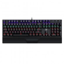 Tastatura Gaming T-DAGGER Destroyer Mecanica, Taste fara conflict, Iluminare LED RGB, Taste durabile (double shot inject)
