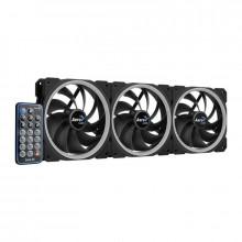 Ventilatoare Aerocool Orbit RC ARGB 3 Fan Pack, 120 mm, telecomanda