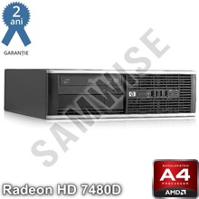 Calculator HP 6305 SFF, AMD A4 X2 5300, 3.4GHz (Turbo 3.6GHz), 4GB DDR3, 160GB, Radeon HD 7480D VGA, DisplayPort, DVD-RW