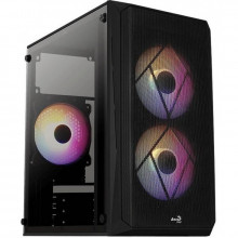 Carcasa Gaming Aerocool CS-107 V2 Black, MiniTower, USB 3.0, Panou transparent
