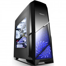 Carcasa Gaming Segotep Sprint V2, USB 3.0, Panou Transparent, MiddleTower, 2x 120mm