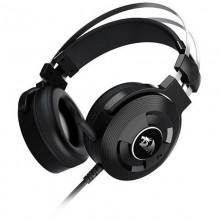 Casti Gaming Redragon Triton Black, Sunet surround 7.1, Telecomanda pe fir, USB, Difuzoare 40mm, Impedanta 32Ohm