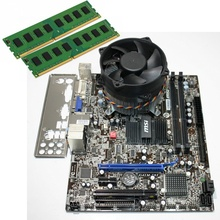 Kit Placa de baza MSI G41M-S03, Intel Core2Duo E8500 3.16GHz, 4GB DDR3, Cooler inclus