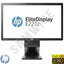 "Monitor LED 21.5"" HP Elitedisplay E221C, 1920 x 1080, 7ms, VGA, DVI, DisplayPort, Camera WEB, Cabluri Incluse"