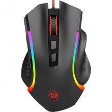 Mouse Gaming Redragon Griffin Black, 7200 dpi, Optic, 8 butoane, Iluminare LED RGB