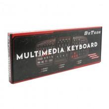 Tastatura multimedia DeTech DE6088, USB, negru