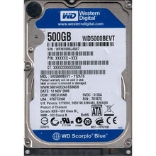 Hard Disk Laptop 500GB WESTERN DIGITAL WD5000BEVT SATA-II