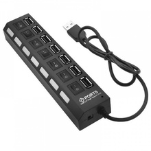 Hub USB 2.0, 7 porturi, negru