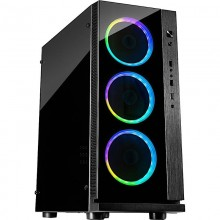 Carcasa Gaming Inter-Tech W-III RGB Black, USB 3.0, Fan controller cu telecomanda, Vent. 3x 120mm LED RGB