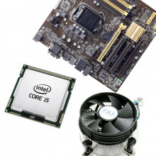 KIT Placa de baza Asus B85M-C/C/SI, Intel Core i5 4570 3.2GHz, 16GB DDR3, Cooler EKL
