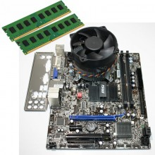 Kit Placa de baza MSI G41M-S03, Intel Core2Duo E8400 3GHz, 4GB DDR3, Cooler inclus