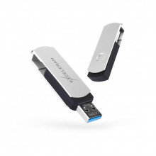 Memorie externa Exceleram P2 32GB, USB 3.0, Alb-Negru