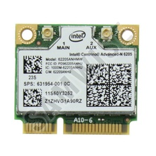 Modul wireless Intel ADVANCED-N 6205 Half pentru laptop, 802.11n A/B/G/N, 62205ANHMW
