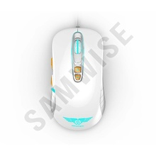 Mouse Gaming Newmen GX1-PLUS White, 4000DPI, Iluminare LED multicolora, Switch-uri Omron, Picioruse de teflon