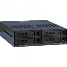 Rack HDD Inter-Tech SinanPower X-3531, 4x 2.5 inch, negru