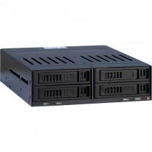 Rack HDD Inter-Tech SinanPower X-3531, 4x 2.5 inch, negru