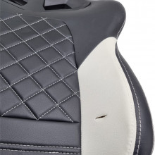 Scaun Gaming Gamdias Achilles E1 L Iluminare RGB negru cu alb, Open Box