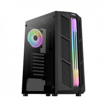 Carcasa Gaming Aerocool Prime ARGB, MiddleTower, 2x USB 3.0, Panou transparent