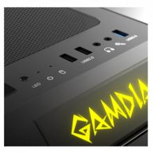 Carcasa Gaming Gamdias Talos E1, MiniTower, USB 3.0, Panou transparent, 2x 120mm LED RGB