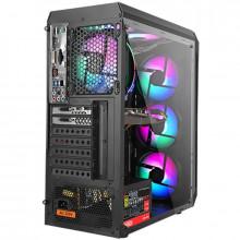 Carcasa Gaming Segotep Snake Black, USB 3.0, Panou Transparent