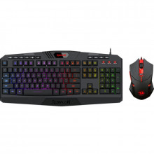 Kit Gaming Redragon S101 Combo, Tastatura Iluminata RGB, Mouse Optic 7200dpi