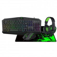 Kit gaming tastatura, mouse, casti si mousepad T-Dagger Legion 4 in 1